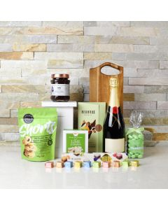 GREEN MEADOWS CHOCOLATE & CHAMPAGNE BASKET