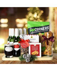 Christmas Beer & Snacks Gift Basket