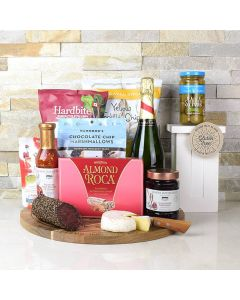 CONGRATULATIONS GIFT BASKET WITH CHAMPAGNE