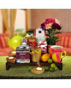 Tea Lights and Tea Gift Basket