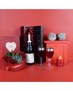 Wine & Roses Gift Basket