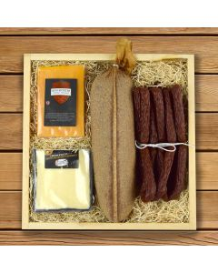 The Rustic Meat and Cheese Gift Crate