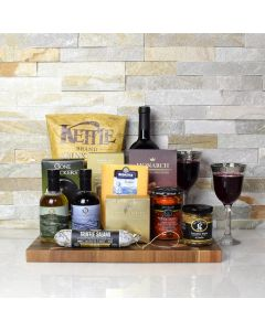 Cheese, Charcuterie & Wine Rustic Gift Basket