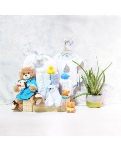 Baby Boy Bath Time Gift Basket