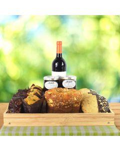 Wine & Baked Treats Gift Basket