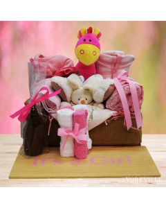 It's A Girl Gift Basket