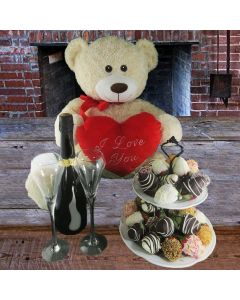 I Love You Mom with Strawberries Gift Basket