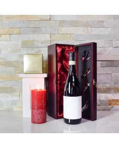 Candlelight Wine & Truffles Gift Basket