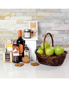 Happy Thanksgiving Fruit & Wine Basket