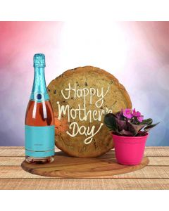 Mother's Day Champagne & Cookie Gift Set