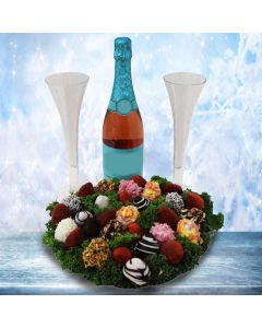 Champagne & Chocolate Dipped Strawberries Platter