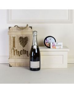 Cheers To Mom Champagne Crate