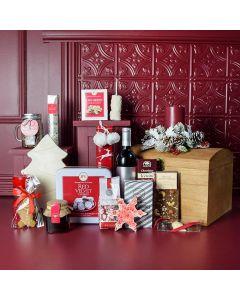 Cozy Holiday Wine Gift Basket
