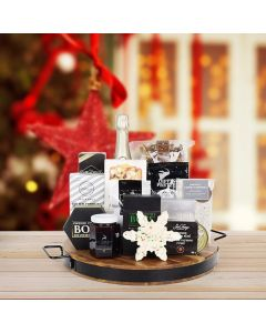 Winter Wonderland Gift Board with Champagne
