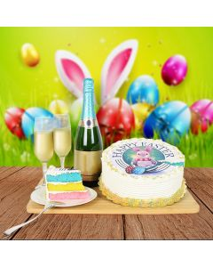 Easter Cake & Champagne Basket