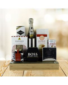 Champagne and Glass Top Cheese Board