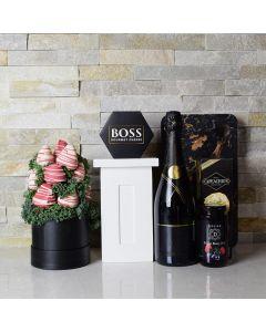 Elegant Champagne Basket