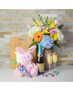 Easter Flowers & Champagne Gift Set