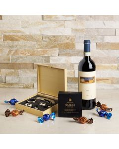 The Winsome Wine & Chocolate Gift Basket, wine gift baskets, gourmet gifts, gifts, US Delivery