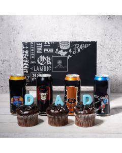 Dad's Beer and Cupcakes Gift Set