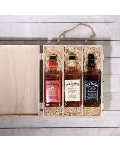 Jack Daniel's VIP Gift Crate, liquor gift baskets, gourmet gifts, gifts, liquor