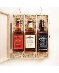 Jack Daniel's Whiskey Executive Crate, liquor gift baskets, gourmet gifts, gifts, liquor