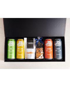 Craft Beer Sampler Snack Box, beer gift baskets, gourmet gifts, gifts, peanut brittle, beer, cashews