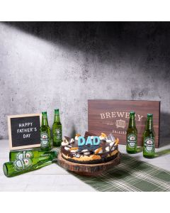 Dad's Decadent Beer & Cake Gift Set, beer gift baskets, cake gift baskets, beer, cheesecake, father's day, US Delivery