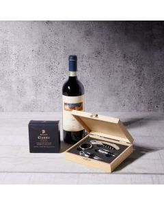 Wine & Truffles Gift Set, wine gift baskets, gourmet gifts, gifts, wine, truffles, chocolate