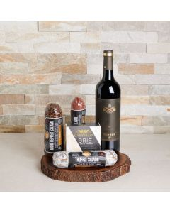 Simple Charcuterie with Wine Gift Set, wine gift baskets, gourmet gifts, gifts, wine, US Delivery