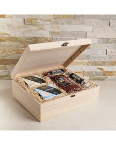 The Premium Rustic Meat & Cheese Gift Crate