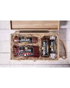 Delicatessen's Delight Gift Crate, gift baskets, gift, salami1
