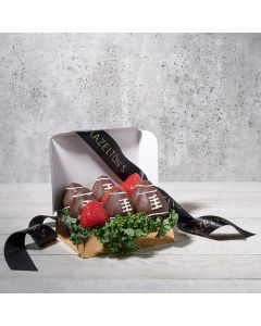 Football Sweets Father's Day Gift Basket, father's day gift sets, chocolate, strawberries, berries