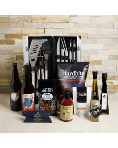 The Wonderful Barbecue Feast Basket, beer gift baskets, gourmet gifts, beer, BBQ, cashews, grill set