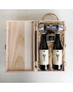 Dad's Craft Beer & Mustard Box, beer gift baskets, gourmet gifts, beer, salami, mustard