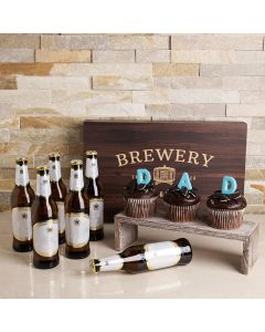 Father's Day Cold One & Cupcake Gift Set, father's day gift baskets, gourmet gifts, gifts, beer, father's day