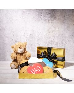 """Dad's Cookie """"Stache"""" Father's Day Gift Basket, father's day gift sets, baked goods"""