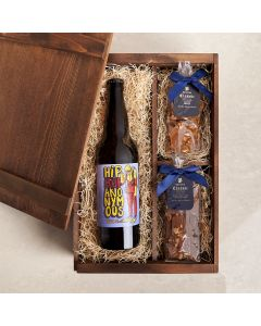 PB & Beer Perfection Box, beer gift baskets, gourmet gifts, gifts, beer, chocolate, peanuts