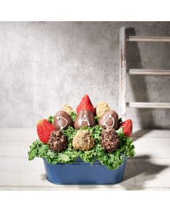 Dad's Dozen Chocolate Covered Strawberries, gourmet gift baskets, gourmet gifts, gifts, father's day gifts, father's day
