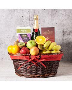 Champagne & Fruit Salad Basket