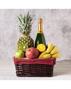 Champagne & Fruit Gift Basket