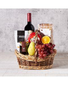 Wine & Gourmet Treat Fruit Basket