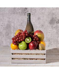 Vegan, Fruits Gift Baskets, fruit, wine, Set 23826-2021, gourmet, wine gift box delivery, delivery wine gift box, fruit box usa, usa fruit box