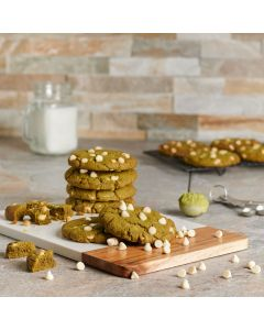 Matcha Cookies with White Chocolate Chips, Baked Goods, Cookies, USA Delivery