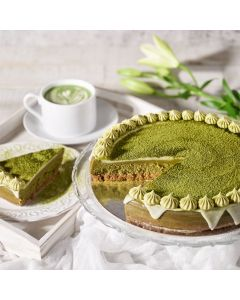 Large Matcha Cheesecake, Cheesecakes, Baked Goods, Gourmet Cheesecakes, USA Delivery