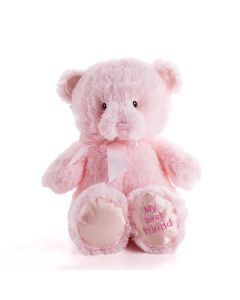 Pink Best Friend Baby Plush Bear, Baby Plushies, Baby Gifts, Plush Toys, USA Delivery