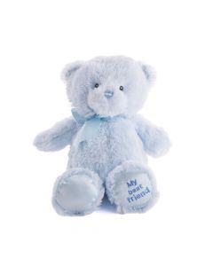 Blue Best Friend Baby Plush Bear, Baby Boy Plushies, Baby Toys, Baby Plushies, Plushy Toys, USA Delivery