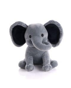 Large Grey Plush Elephant, Baby Boy Toys, Baby Plushies, Plushy Toys, Baby Gifts, USA Delivery