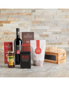 The Dreamy Comforts Wine and Sweets Gift Basket, Wine Gift Baskets, Gourmet Gift Baskets, USA Delivery