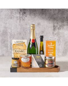 Gourmet Dipping & Champagne Gift Basket